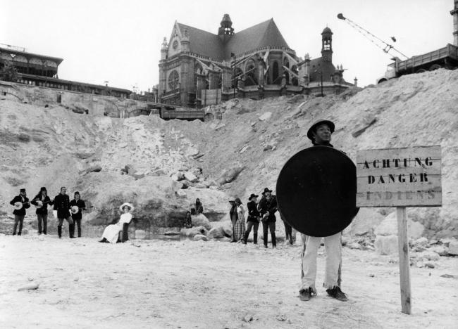 Съёмки фильма «Не трогай белую женщину» (реж. М.Феррери) в котловане Ле-Аль. 1974 г.