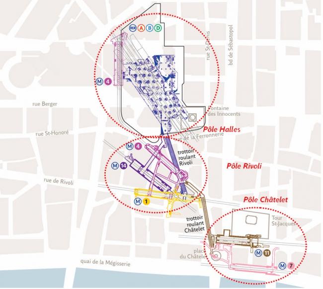 Транспортный узел «Шатле – Ле-Аль», объединяющий 8 линий метро и RER, – один из крупнейших в мире. Ежедневно он пропускает до 800 тысяч пассажиров.