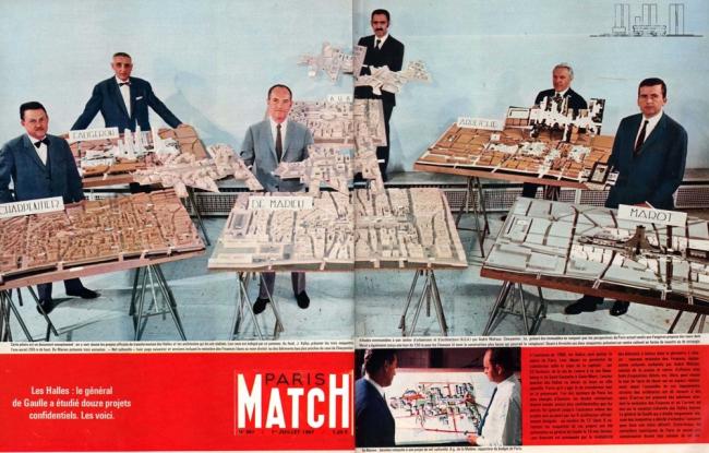 «Конкурс 6 макетов» и его участники. 1967 г. Ле-Аль – плато Бобур рассматриваются как единая территория.