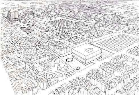 Реконструкция Ле-Аль – плато Бобур. Инициативное предложение П. Фошё. 1968 г.