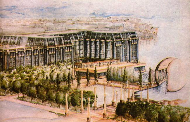 «Форум Ле-Аль». 2-я очередь комплекса. Арх. Р. Бофилл. 1974-77 гг.