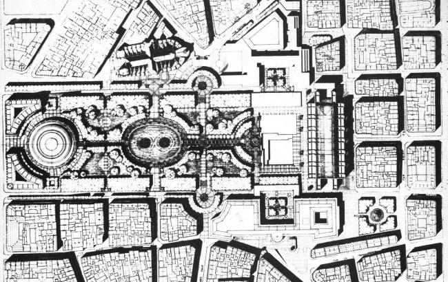 «Форум Ле-Аль». 2-я очередь комплекса. Проект Коллегии архитекторов (арх. Р. Бофилл, Ла Тур д'Овернь, М. Сальте, А.Бернар) 1975 г.