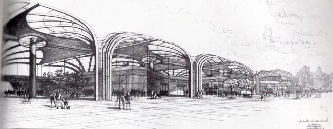 «Форум Ле-Аль». Застройка восточной части комплекса. Проект. Инж. Ж. Виллерваль. 1980 г.