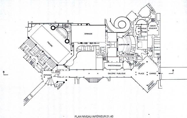 «Новый Форум Ле-Аль». Арх. П. Шеметов. 1979-1986 гг. План.