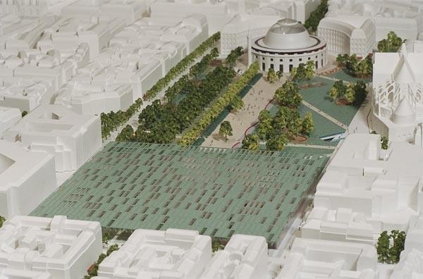 Проект реконструкции «Форума Ле-Аль». Арх. Д. Манжен / бюро Seura. 2004 г.