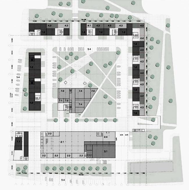 Жилой и административный комплекс на Проспекте Мира © Архитектурное бюро Асадова