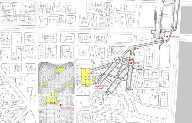 Транспортный узел «Шатле – Ле-Аль» © Agence Patrick Berger et Jacques Anziutti Architectes