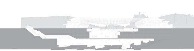 Реконструированный «Форум Ле-Аль». Арх. П. Берже, Ж. Анзьютти. 2007-2016 гг. Разрез © Agence Patrick Berger et Jacques Anziutti Architectes