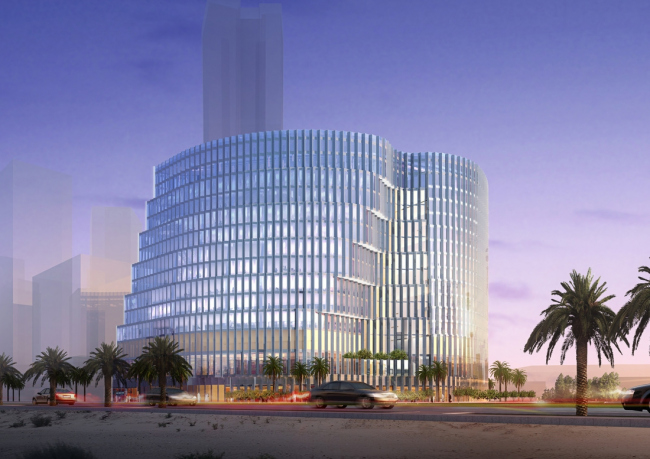 Финансовый центр короля Абдаллы, Эр-Рияд, Саудовская Аравия. Участок 4.11. 2014 © FXFOWLE Architects