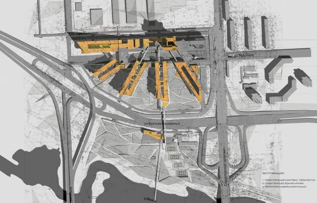 Культурно-деловой, торгово-развлекательный и жилой комплекс «Перекресток» © Архитектурное бюро Асадова