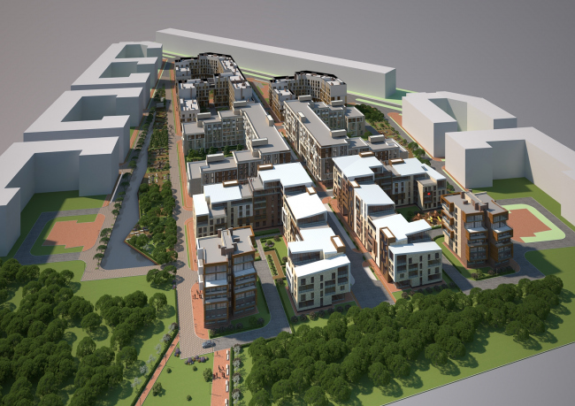 """Villagio"" residential area. Project, 2014 © Arkhitekturium"