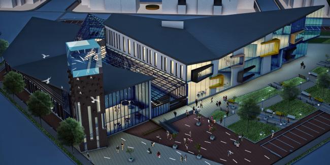 Концепция застройки территории малоэтажного жилого комплекса в Сестрорецке. Проект, 2012 © Архитектуриум