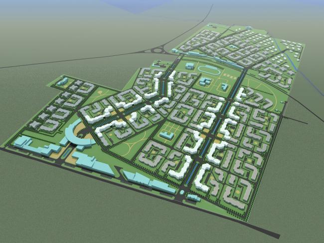 Integrated development in Pushkin. Master plan, 2007 © Arkhitekturium