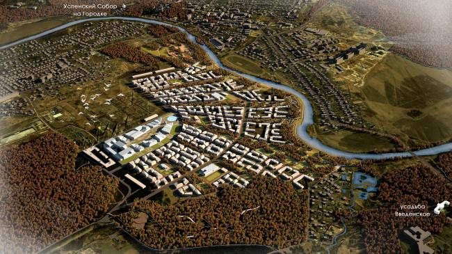 Integrated territory development in Zvenigorod. Master plan, 2014 © Arkhitekturium