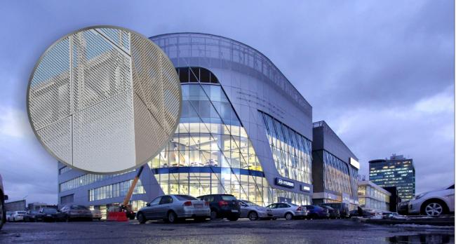 Автосалон «Авилон» в Москве с применением панелей Bildex с покрытием PE