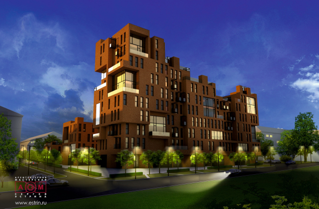 Concept of the residential development in Moscow. Project, 2016 © Sergey Estrin Architects