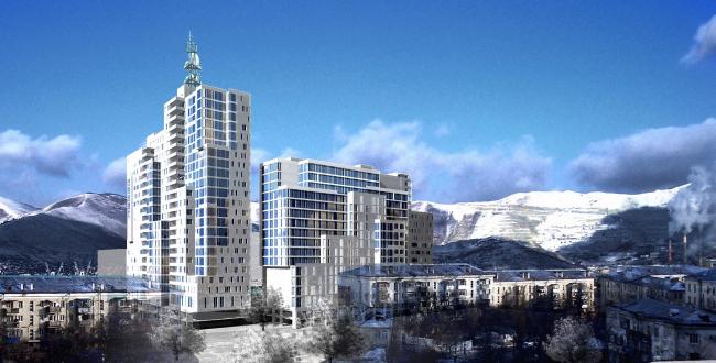 Многофункциональный комплекс «НовоСити», г. Новороссийск © Архитектурное бюро Асадова