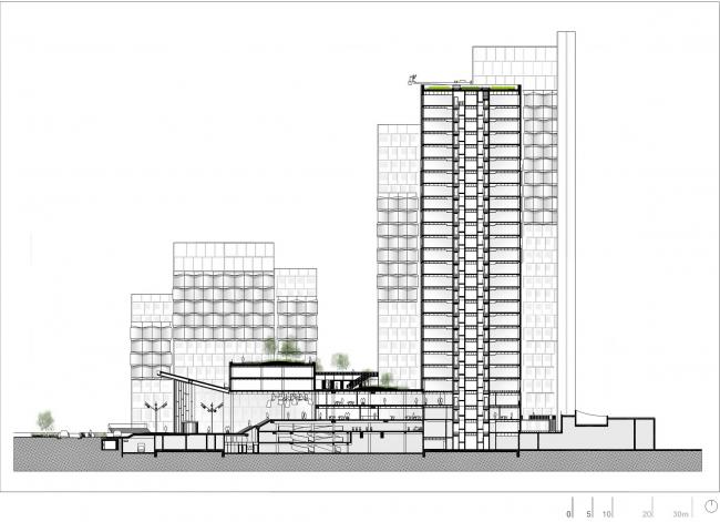 Комплекс CityLights © Dominique Perrault Architecture /Adagp