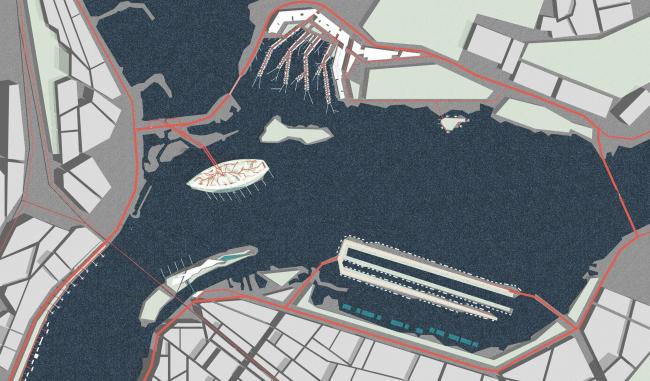 «Зеленое кольцо» – освоение акватории р. Днепр © Архитектурное бюро Асадова