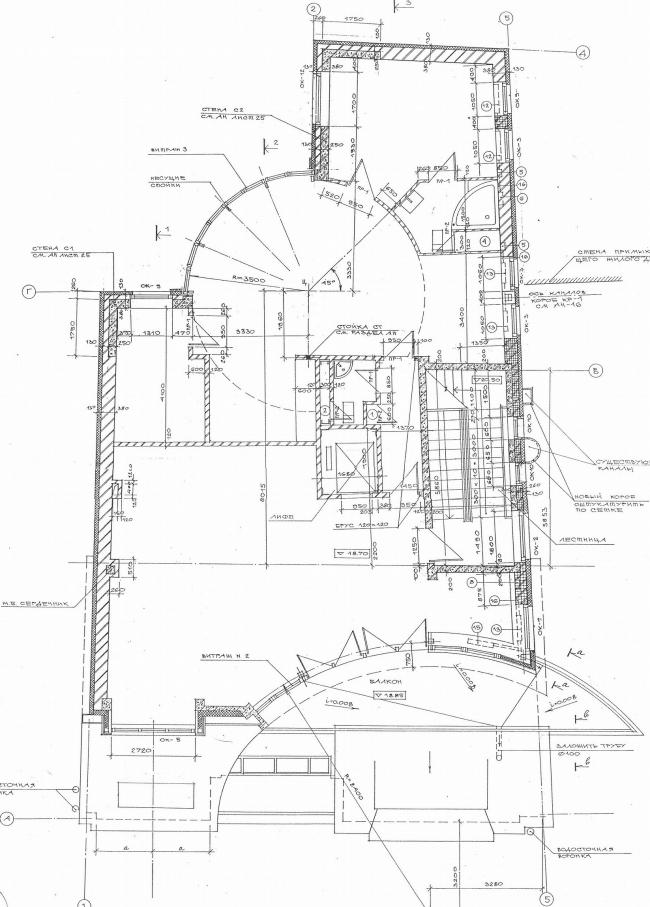 Реконструкция жилого дома, Хлебный переулок © Архитектурное бюро Асадова