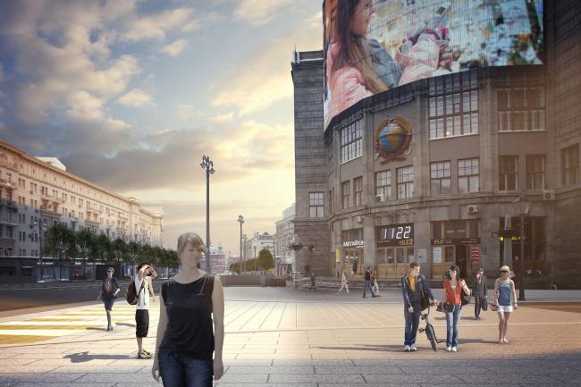 Программа улучшения улицы Тверская. Центральный телеграф. Конкурсный проект, 2016 © КБ «Стрелка»