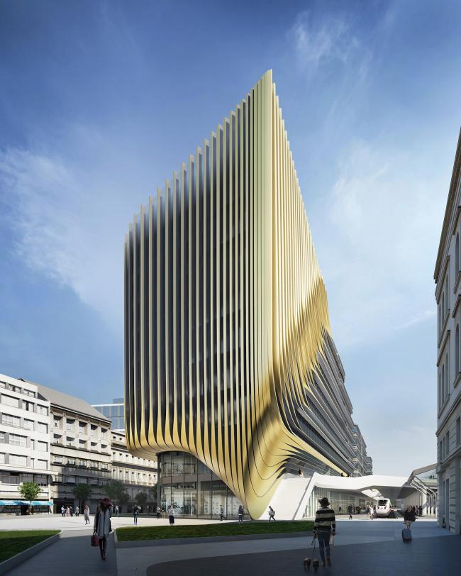 Деловой район у вокзала им. Масарика © Zaha Hadid Architects