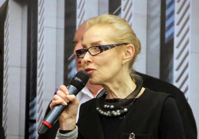 Ольга Свиблова на открытии выставки. Фотография © Юлия Тарабарина, Архи.ру