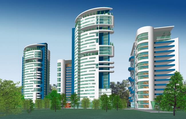 Жилой комплекс, ул. Нежинская © Архитектурное бюро Асадова