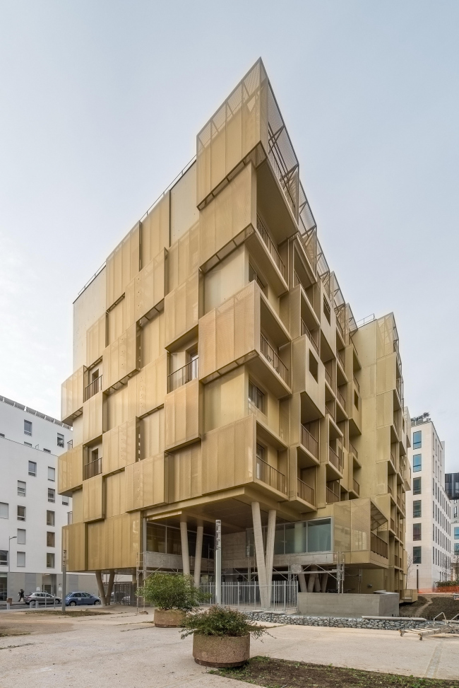 Студенческое общежитие Golden Cube © Christophe Demonfaucon