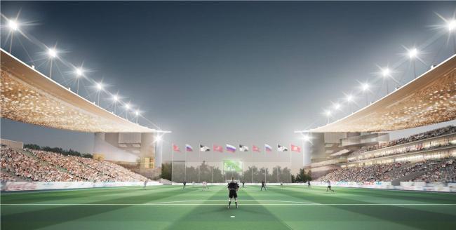 Спортивный комплекс имени Э.А. Стрельцова. Главная футбольная арена. Проектировщик ПИ «Арена»