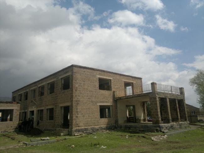 Детский сад в селе Кош. До реконструкции. Изображение: Palimpsest Architects