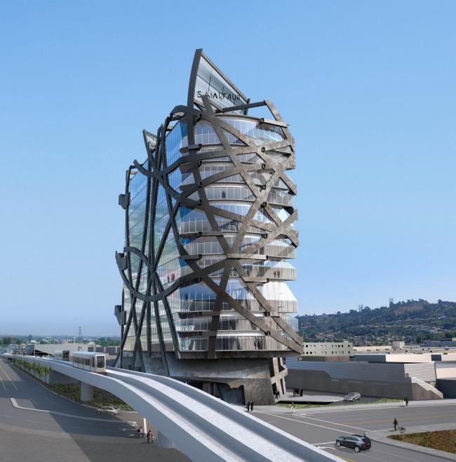 Офисное здание (W)rapper в Лос-Анджелесе © Eric Owen Moss Architects