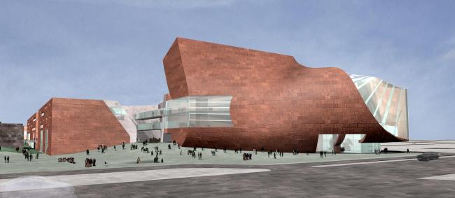 Конкурсный проект Национальной библиотеки имени Хосе Васконселоса в Мехико © Eric Owen Moss Architects