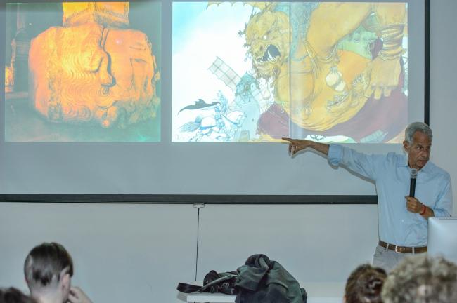 Эрик Оуэн Мосс на лекции в Школе МАРШ. Фото © Илья Локшин. Предоставлено Школой МАРШ