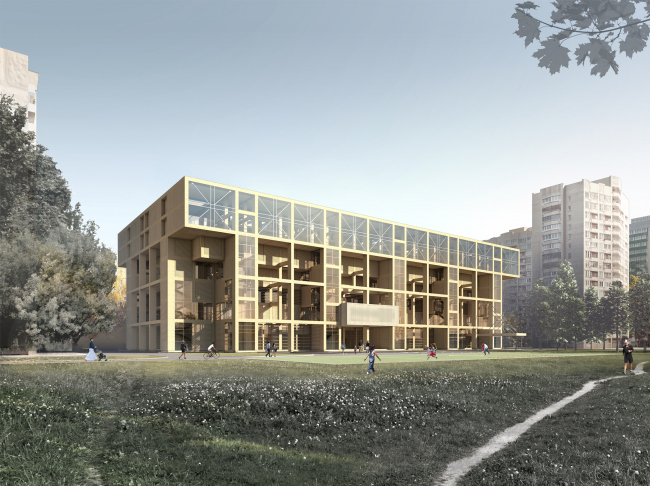 Sports and recreation complex of the judo school. Project, 2016 © Studio 44