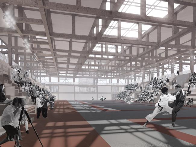 Спортивно-оздоровительный комплекс школы дзюдо. Проект, 2016 © Студия 44