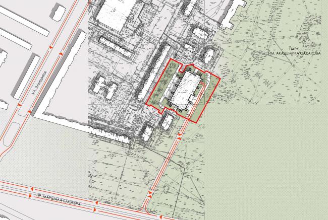 Sports and recreation complex of the judo school. Location plan, 2016 © Studio 44