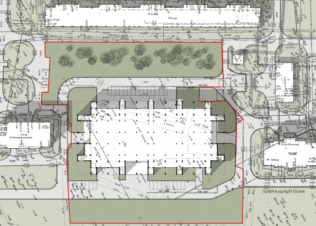 Sports and recreation complex of the judo school. Master plan © Studio 44