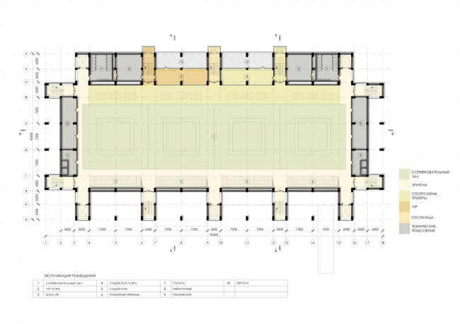 Sports and recreation complex of the judo school. Plan of the 5th floor © Studio 44