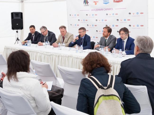 Пресс-конференция на открытие академии Caparol. Фотография предоставлена ООО «ДАВ – Руссланд»