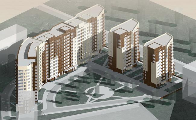 Жилой комплекс «Перспектива» © Архитектурное бюро Асадова