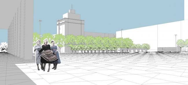 Благоустройство Триумфальной площади. Проект, 2013 © Ландшафтная компания ARTEZA