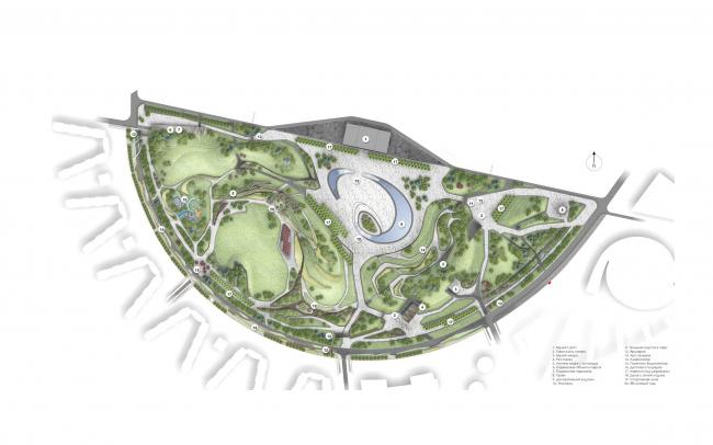 Парк «Ходынское поле». Генеральный план © Ландшафтная компания ARTEZA