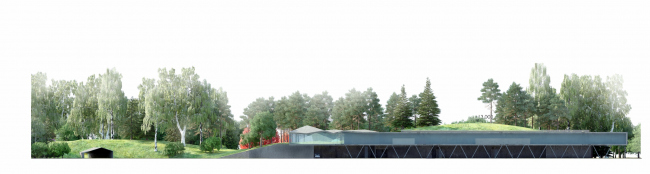 Парк «Ходынское поле». Здание администрации. Конкурсный проект, 2014 © Ландшафтная компания ARTEZA
