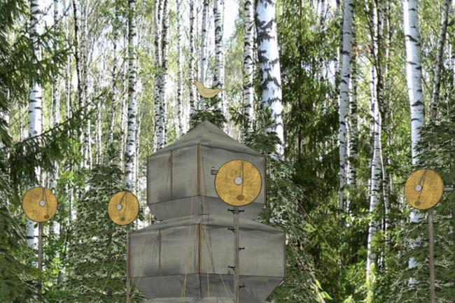 Проект «Походная пагода». Изображение предоставлено командой фестиваля «Архстояние»