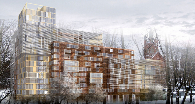 Жилой комплекс на Пресне © Архитектурное бюро Асадова