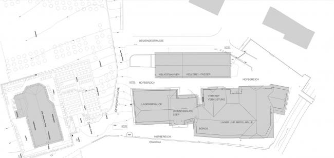 Винодельня Nals Margreid. Архитектор Маркус Шерер. План до реконструкции © Markus Scherer Architekt