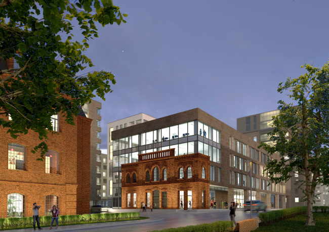"""The concept of a multifunctional housing project on the Bolshaya Pochtovaya Street © """"ABV Group"""" architects"""