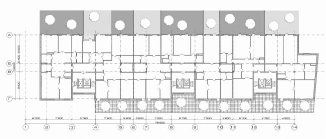 Жилой клубный дом, 3-я Тверская-Ямская ул. © Архитектурное бюро Асадова
