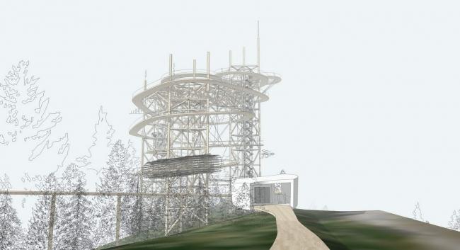 Смотровая башня «Небесная тропа» © Fránek Architects